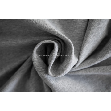 Náplet bavlna/elastan  2x72cm šedá melír
