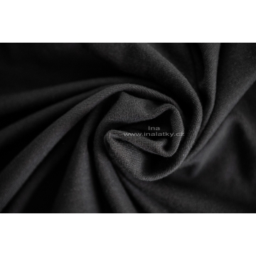 Náplet bavlna/elastan  2x72cm černá