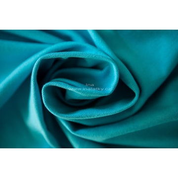 Náplet bavlna/elastan  2x72cm tyrkysová