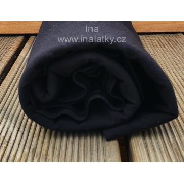 ÚPLET BAVLNA/ELASTAN 200G/m2 černá