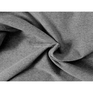 Teplákovina 240g/m2 melír šedá tmavá