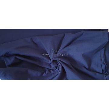 ÚPLET BAVLNA/ELASTAN 200G/M2 tmavě modrá