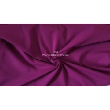 ÚPLET BAVLNA/ELASTAN 200G/M2 tmavě fialová