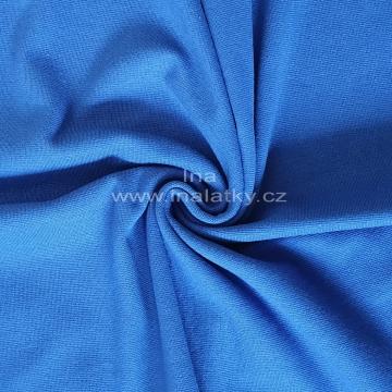 Náplet bavlna/elastan královsky modrá 2x72cm