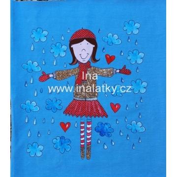 Panel holčička na modré