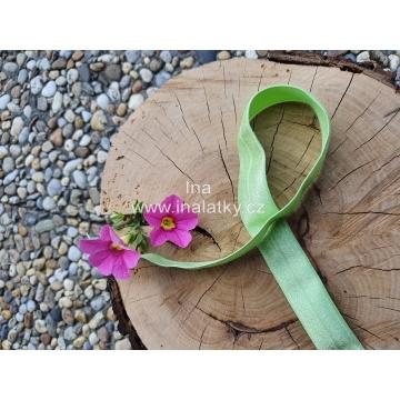 Lemovací pruženka šíře 20mm zelená