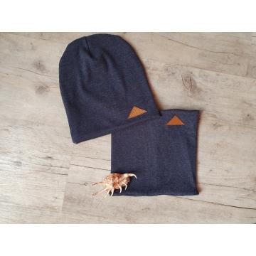 podzimní set - nákrčník + čepička- jeans