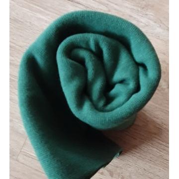 Náplet bavlna/elastan lahvově zelená 2x72cm