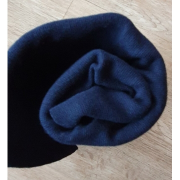 Náplet bavlna/elastan tmavě modrá 2x72cm