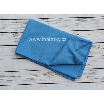 Náplet bavlna/elastan světle modrá 2x72cm