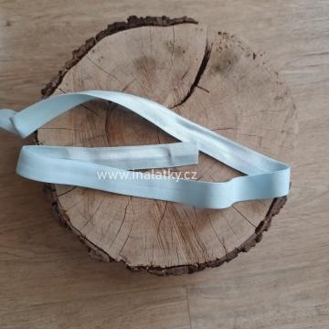 Pruženka lesklá  Šíře: 20mm bílá