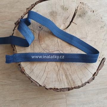 Pruženka lesklá  Šíře: 20mm tmavě modrá