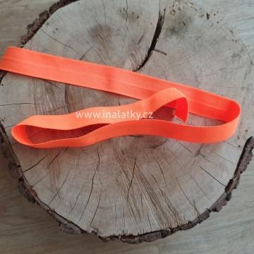 Pruženka lesklá  Šíře: 20mm neon oranžová