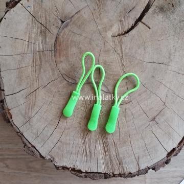 Taháček na zip neon zelená