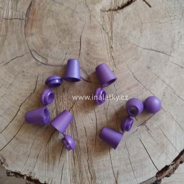 Koncovka na šňůrky fialová