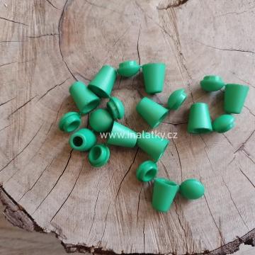 Koncovka na šňůrky zelená