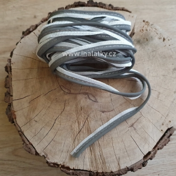 Reflexní výpustek 15mm šedá
