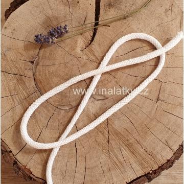 Šňůra oděvní bavlněná 5mm bílá