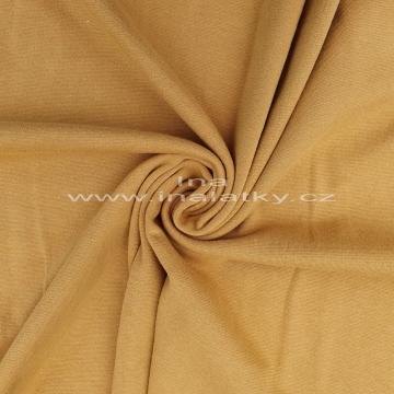 Náplet bavlna/elastan  2x72cm hořčice