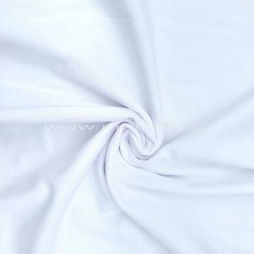 Náplet bavlna/elastan  2x72cm bílá